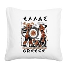 Greek Mythology Square Canvas Pillow