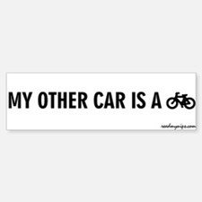 My Other Car Is A Bicycle - Bumper Bumper Bumper Sticker