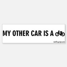 My Other Car Is A Bicycle - Bumper Car Car Sticker