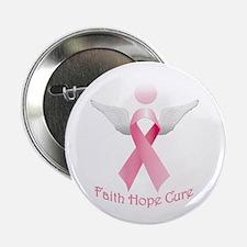 """Faith Hope Cure 2.25"""" Button"""