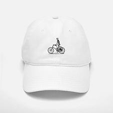 Skeleton on Bicycle Baseball Baseball Cap