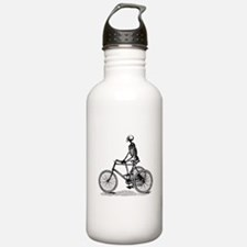Skeleton on Bicycle Water Bottle