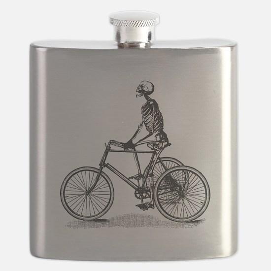 Skeleton on Bicycle Flask