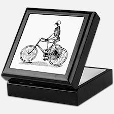 Skeleton on Bicycle Keepsake Box