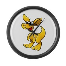 Cartoon Kangaroo Large Wall Clock