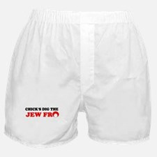 CHICKS DIG THE JEW FRO SHIRT  Boxer Shorts