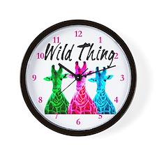 WILD GIRAFFE Wall Clock