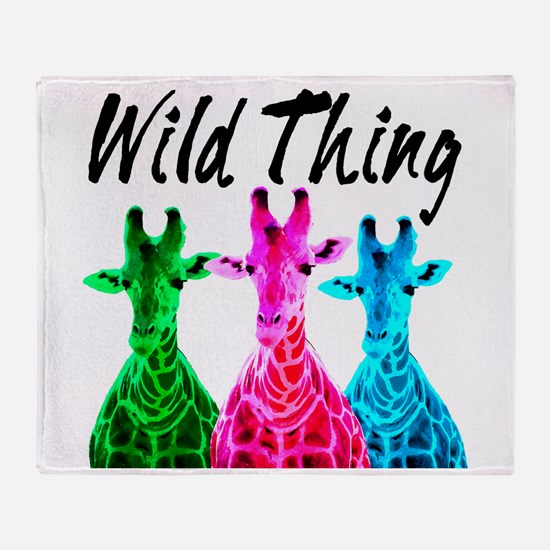 WILD GIRAFFE Throw Blanket