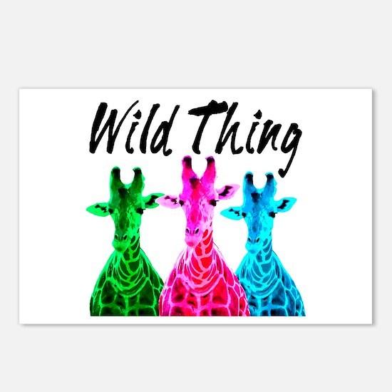 WILD GIRAFFE Postcards (Package of 8)
