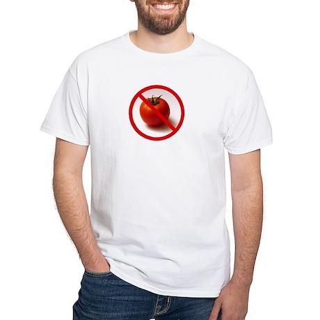 No Tomatoes White T-Shirt