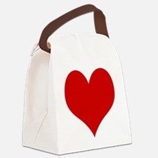 Funny Red Canvas Lunch Bag