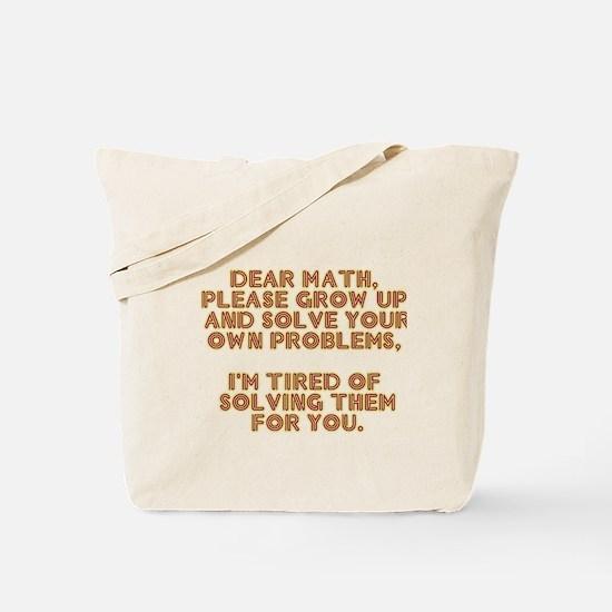 dear math Tote Bag