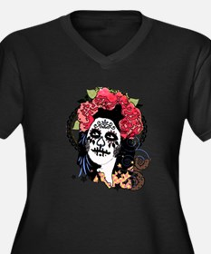 Day Of The D Women's Plus Size Dark V-Neck T-Shirt