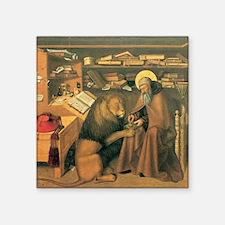 """Saint Jerome in his Study Square Sticker 3"""" x 3"""""""