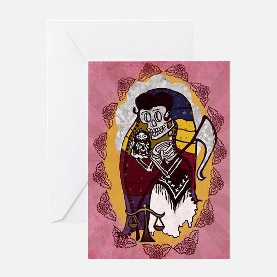 Santa Muerte Skeleton Lady Greeting Card