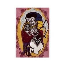 Santa Muerte Skeleton Lady Rectangle Magnet