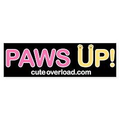 [Yellow Paws] Bumper Bumper Sticker