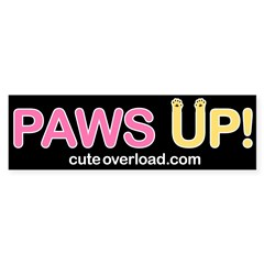 [Yellow Paws] Bumper Bumper Sticker