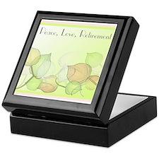 Peace Love Retirement Keepsake Box