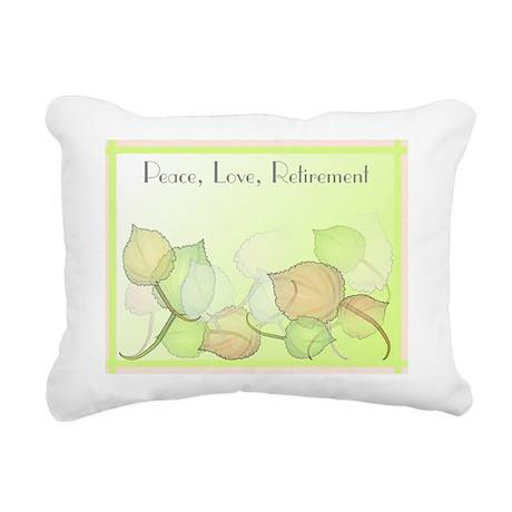 Peace Love Retirement Rectangular Canvas Pillow