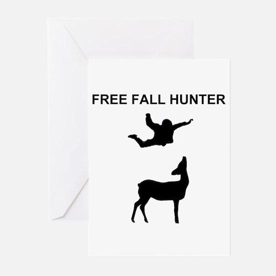 free fall hunter Greeting Cards (Pk of 10)