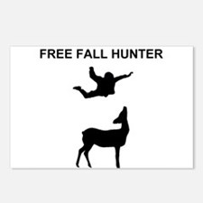 free fall hunter Postcards (Package of 8)