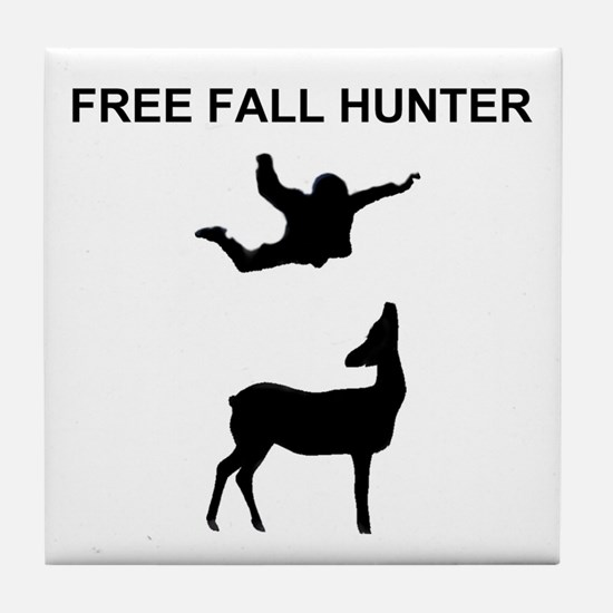 free fall hunter Tile Coaster