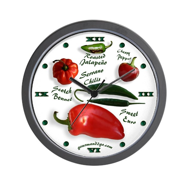 Hot Chili Peppers Wall Clock By Emeraldforest