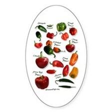 Hot Chili Peppers Oval Decal