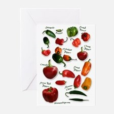 Hot Chili Peppers Greeting Cards (Pk of 10)