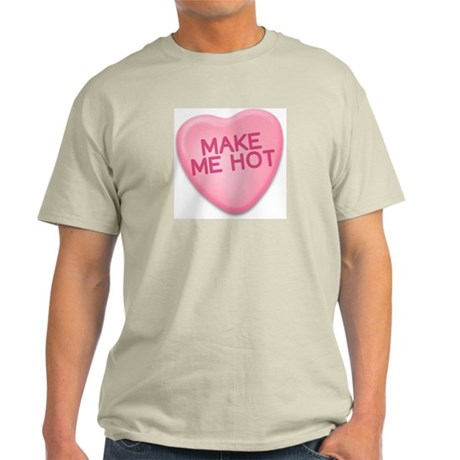 make me hot Candy Heart Ash Grey T-Shirt