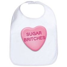 sugar britches Candy Heart Bib