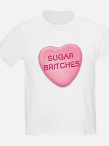 sugar britches Candy Heart Kids T-Shirt
