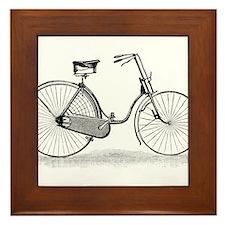 Vintage Bike Framed Tile