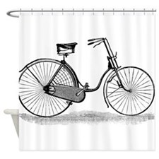Vintage Bike Shower Curtain