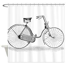 Vintage Bike Shower Curtain