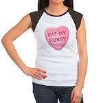 Eat My Pussy Candy Heart Women's Cap Sleeve T-Shir