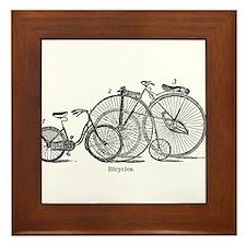 Vintage Bicycles Trio Framed Tile
