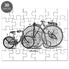 Vintage Bicycles Trio Puzzle