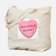 snuggle bunny Candy Heart Tote Bag