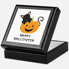 Happy Halloween Cat Keepsake Box