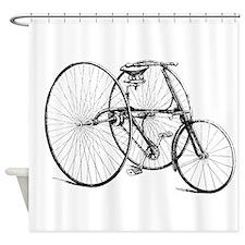Vintage Trike Bicycle Shower Curtain
