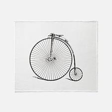 Vintage Bike Throw Blanket