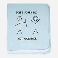 I Got Your Back baby blanket