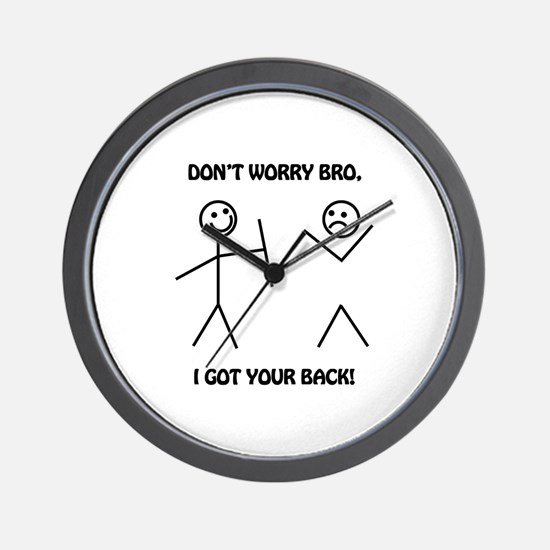 I Got Your Back Wall Clock