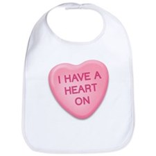 I Have a Heart On Candy Heart Bib