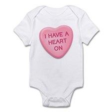 I Have a Heart On Candy Heart Infant Bodysuit