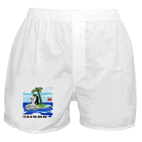 Penguin Dive Bar Boxer Shorts