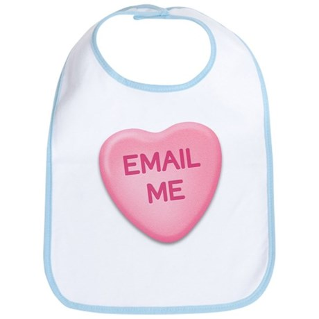 Email Me Candy Heart Bib
