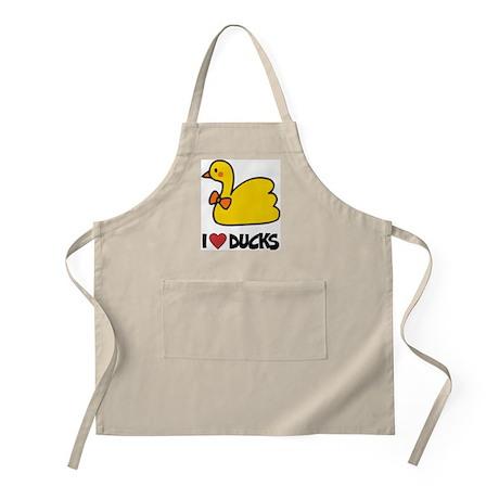 I Love Ducks BBQ Apron